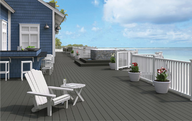 Co-extrusion Decking by the Sea