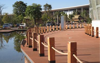 WPC Railing for Artificial Ponds
