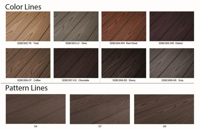 WPC decking color