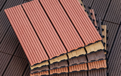 Colorful Outdoor Wood Deck Tiles
