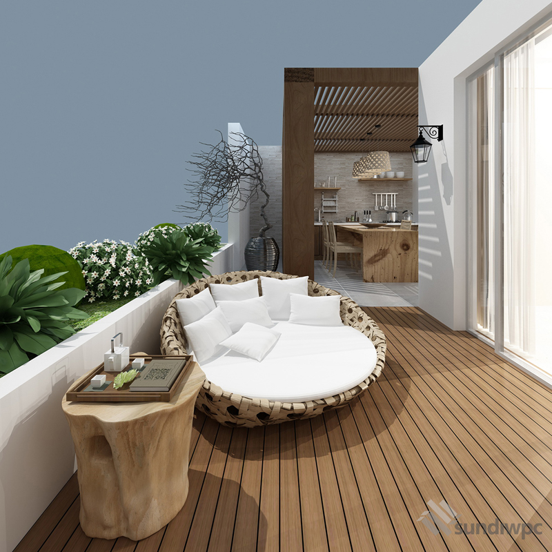 Indoor Teak Composite Decking