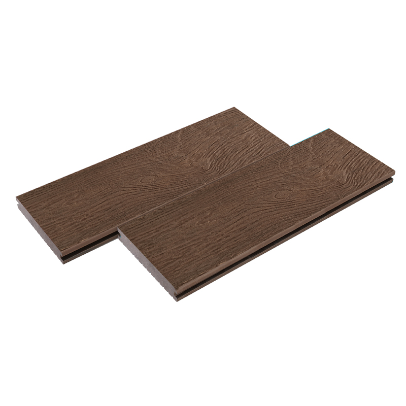 Coffee Embossing Grey Plastic Decking