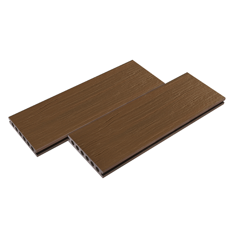 Coffee Wood Grain Composite Decking Board