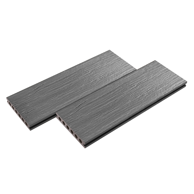 Gray Wood Grain Plastic Decking