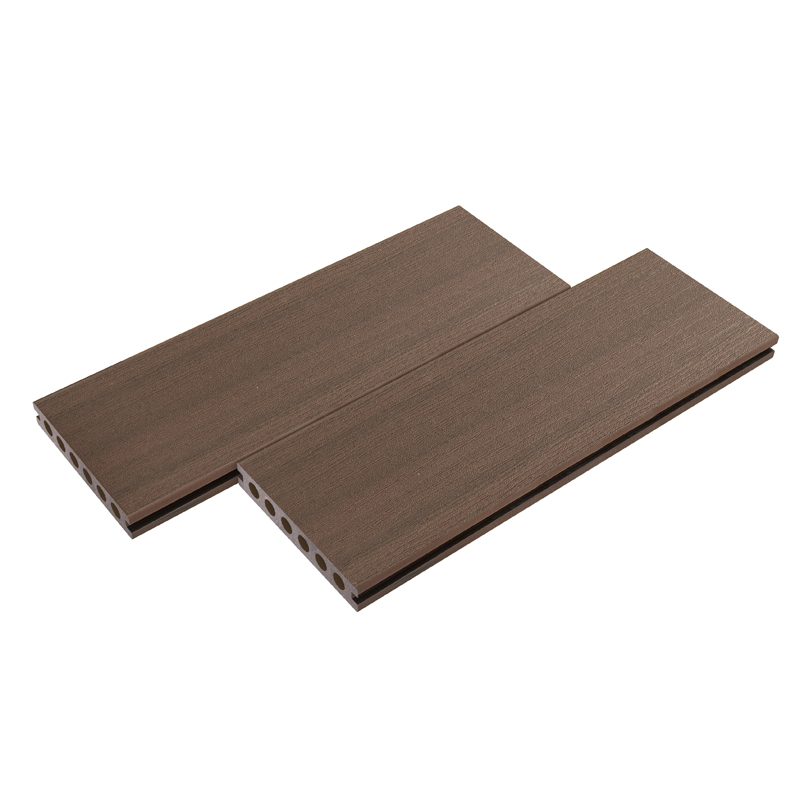 Straight Grain Coffee Composite Decking
