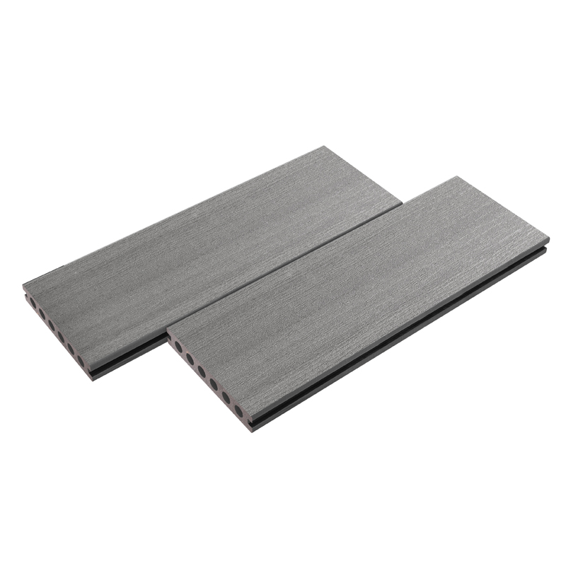 Straight Grain Gray Composite Decking