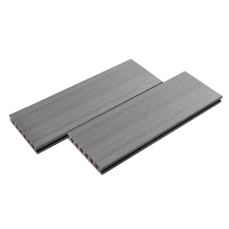 Straight Grain Gray Composite Decking