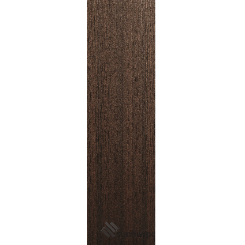 White Oak Grain - Walnut Composite Decking Boards