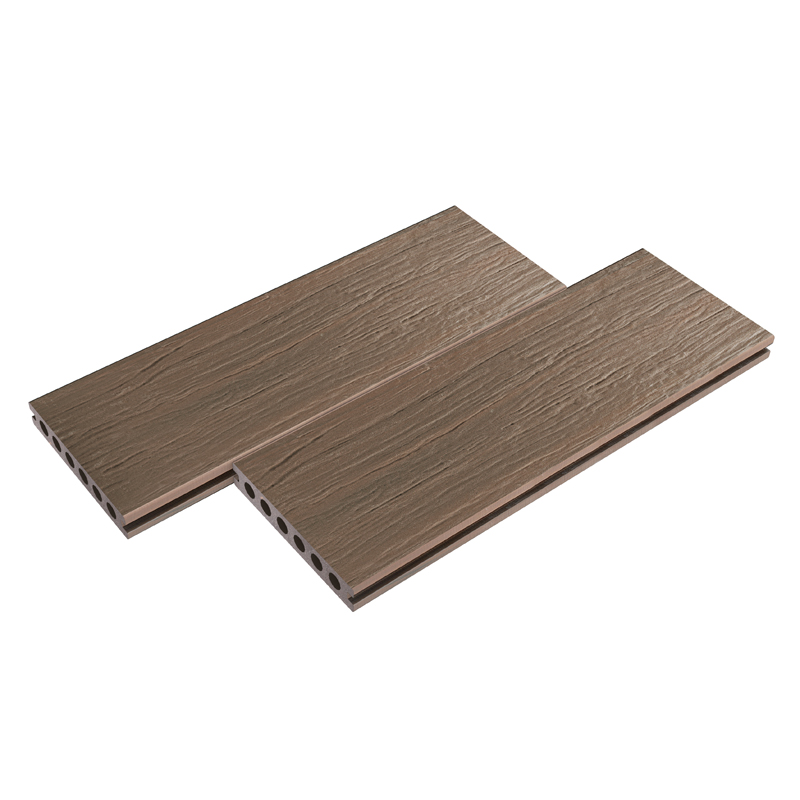 Yellow Wood Grain Walnut Composite Decking